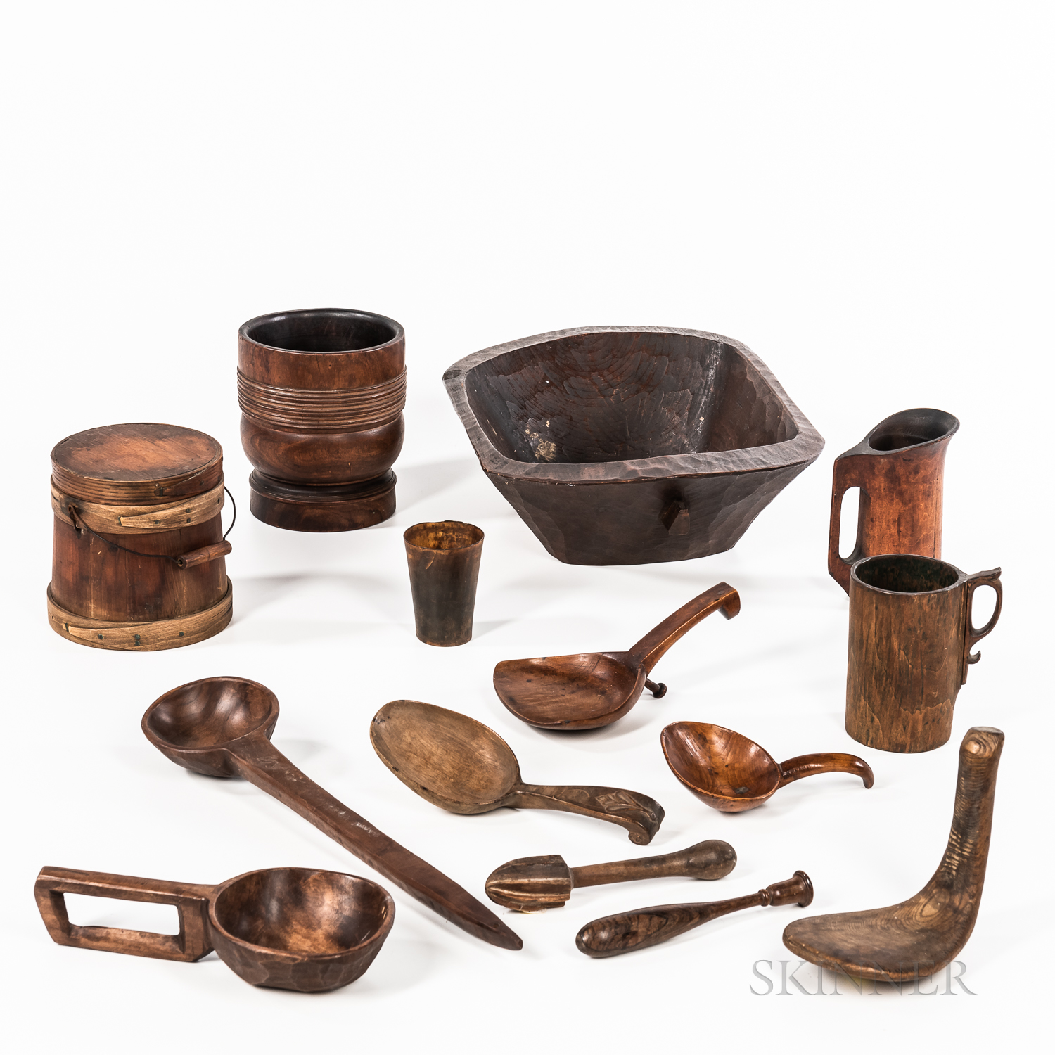 Group of Decorative Wooden Items