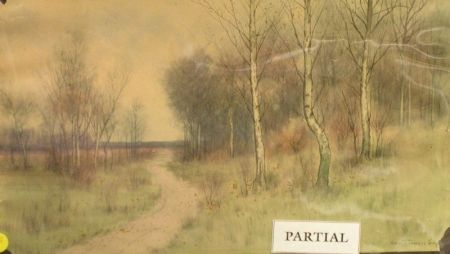 Lot of Two Mixed Media on Paper Landscapes