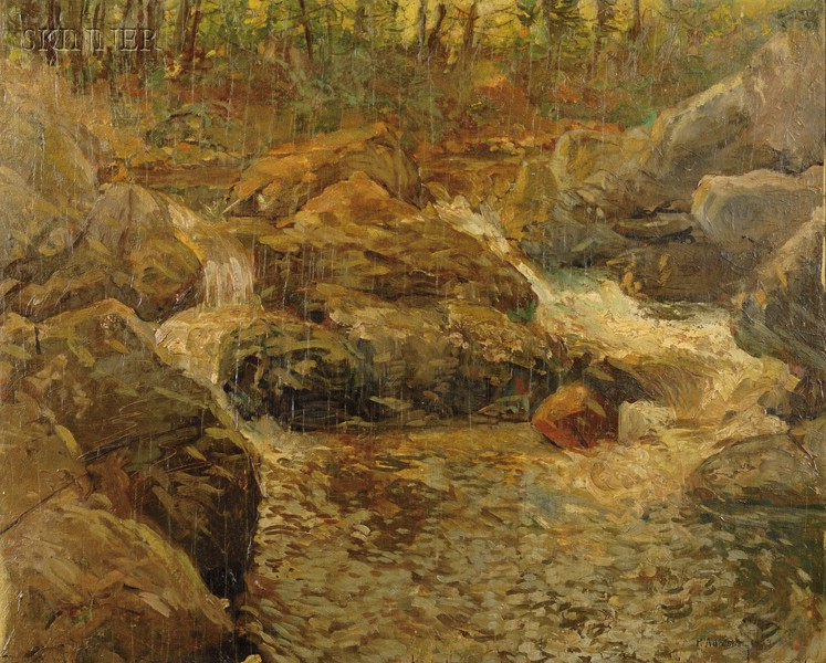 Attributed to Philip Adams (American, b. 1881)      Landscape with Creek