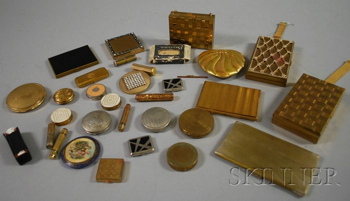 Large Group of Vintage Compacts and Necessaires