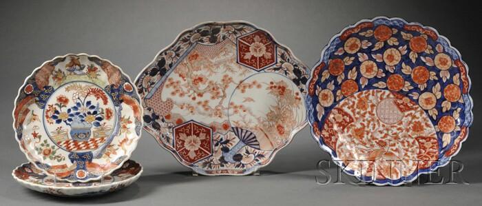 Four Imari Porcelain Serving Dishes