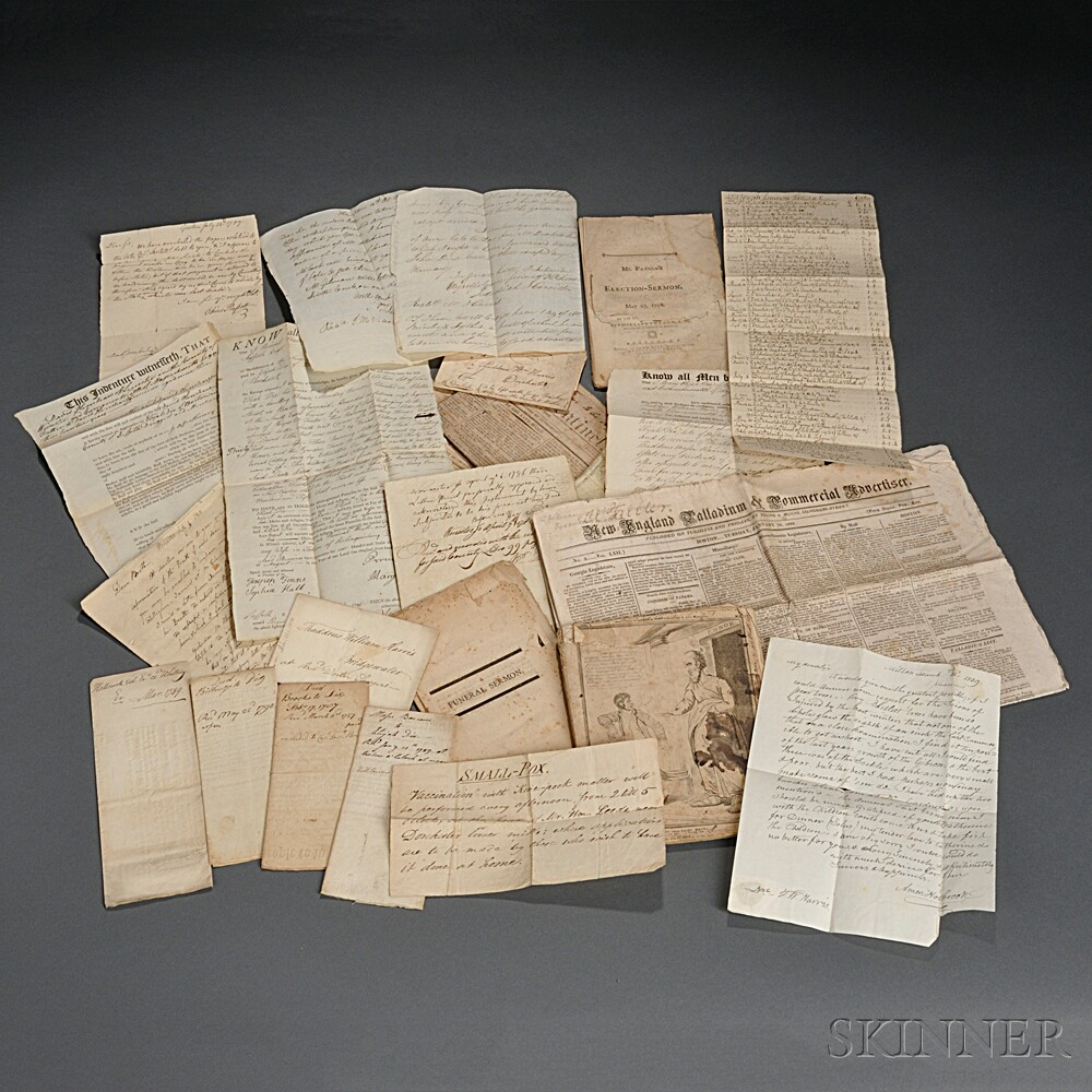 Letters, Documents, Printed Ephemera, 18th-19th Century.