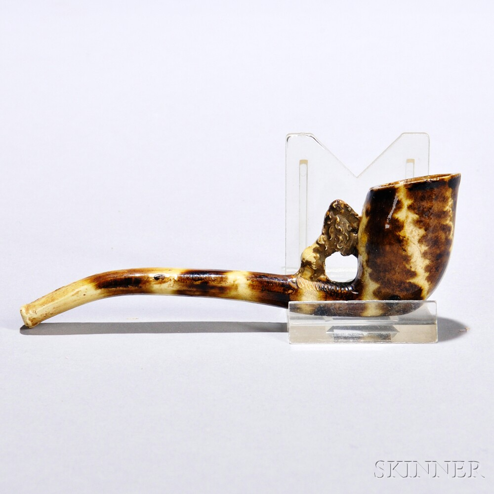 Buff-colored Earthenware Pipe