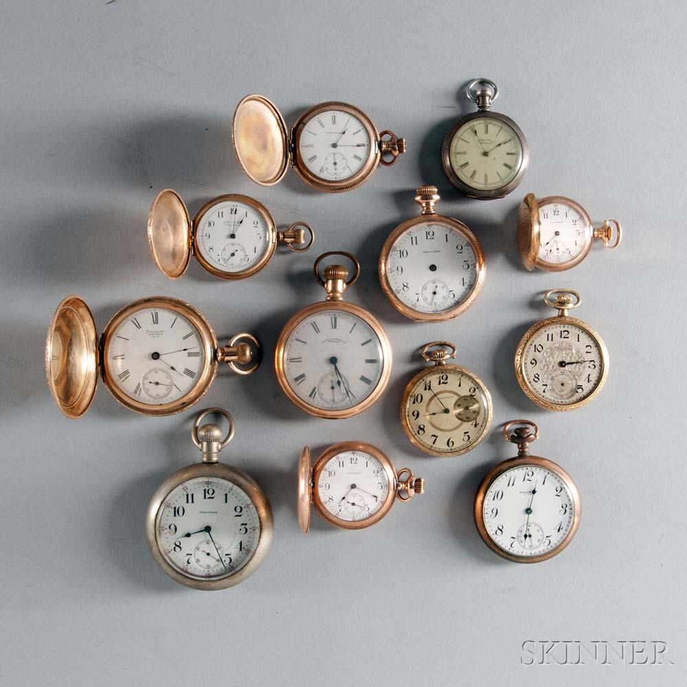 Twelve Waltham Watches