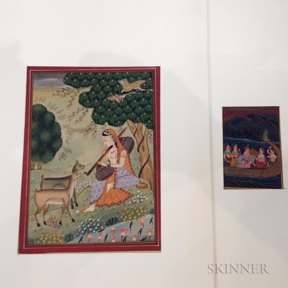 Two Manuscript Paintings