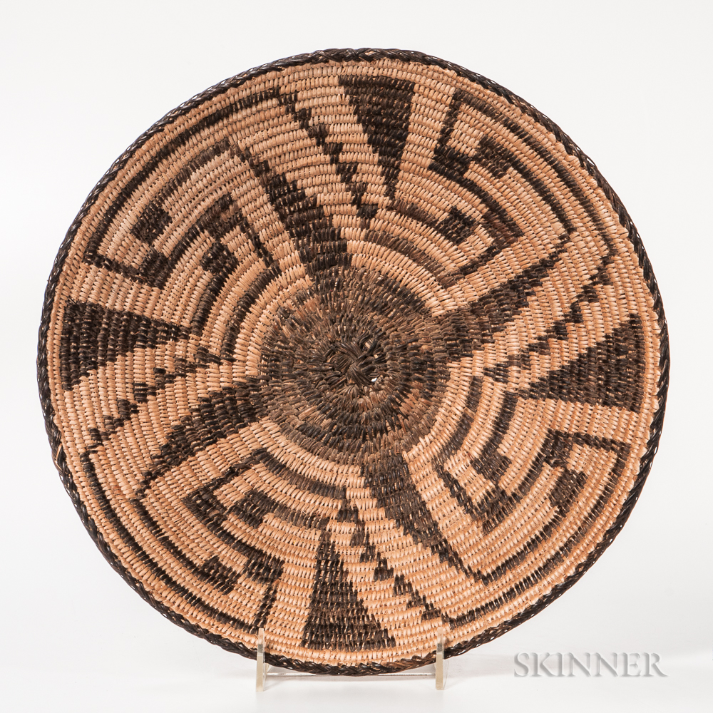 Coiled California Basketry Tray