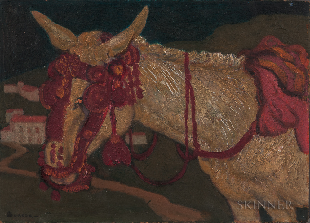 André Suréda (French, 1872-1930)    Burro with a Decorative Bridle