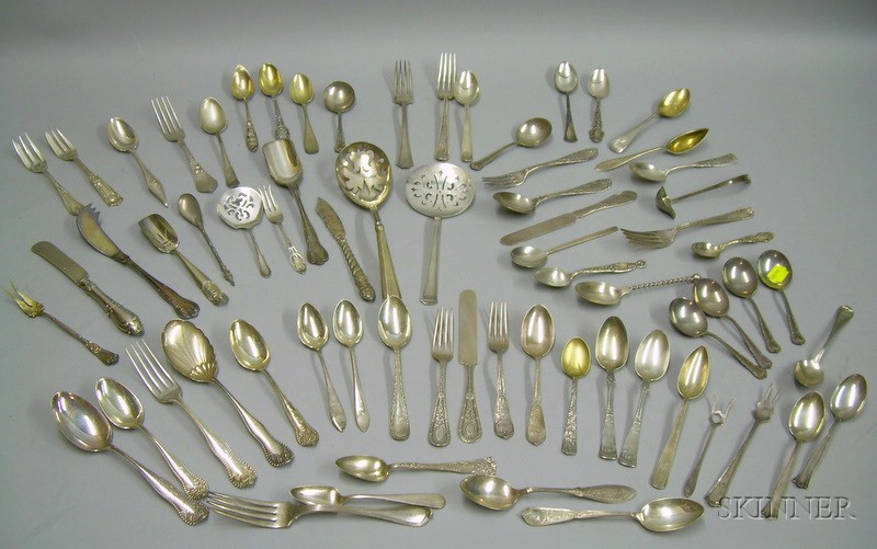 Group of Assorted 19th/20th Century Sterling Silver Flatware