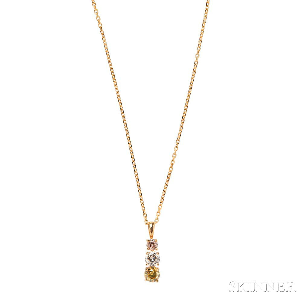 14kt Gold and Diamond Pendant