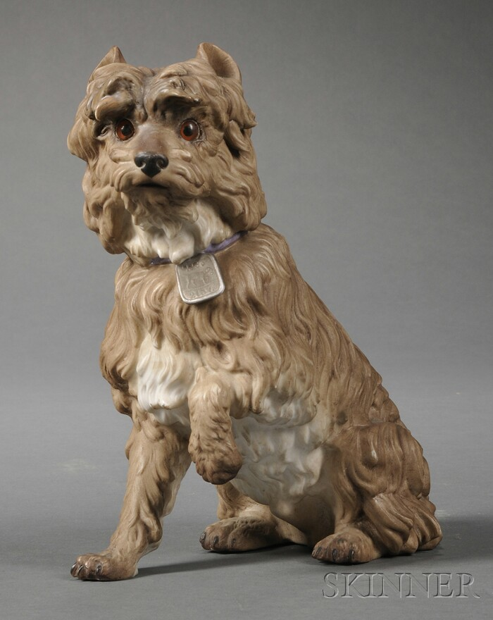 Porcelain Seated Dog