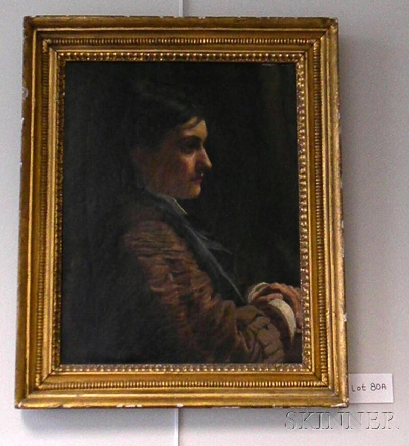 John Dickinson (British, 19th/20th Century)      Portrait of a Woman in Profile.