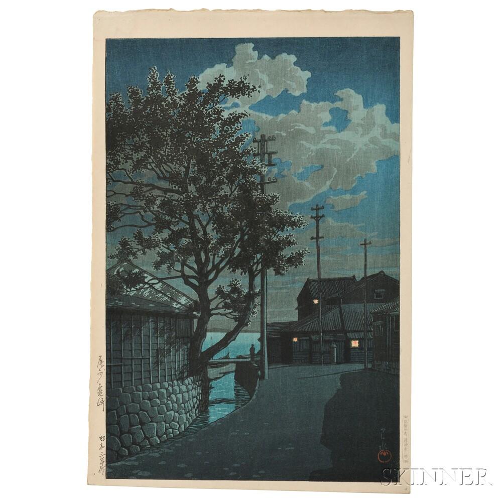 Kawase Hasui (1883-1957), Kamezaki, Bishu