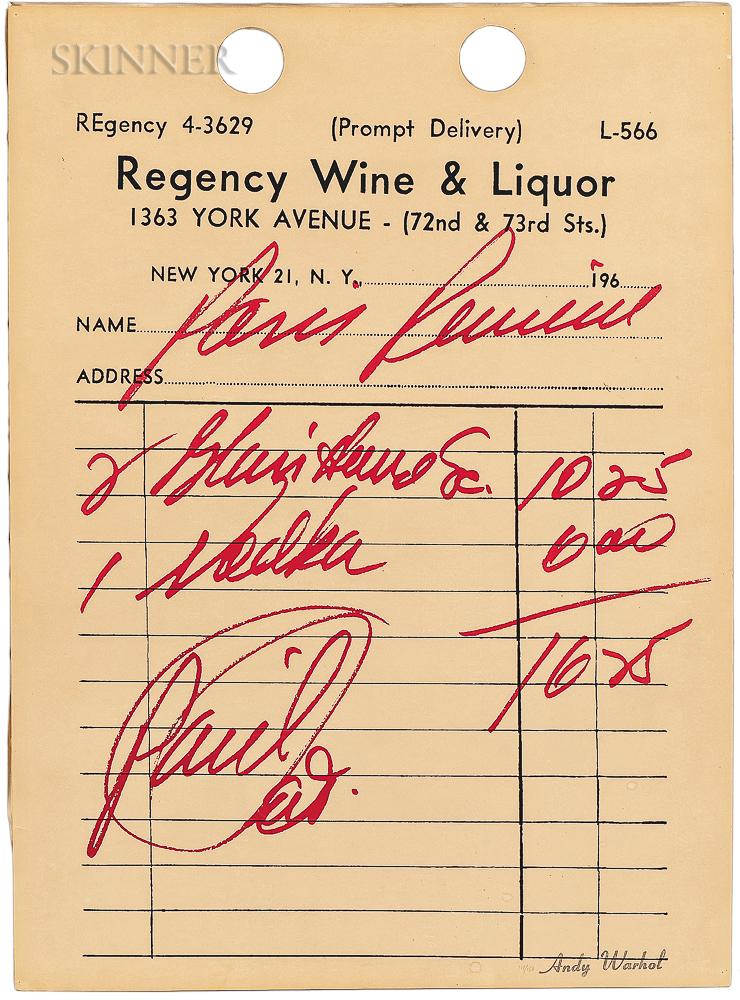 Andy Warhol (American, 1928-1987)      Paris Review