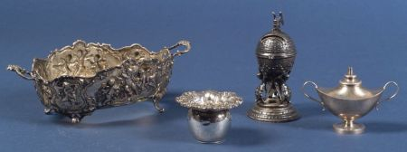 Four Silver and Plate Table Articles