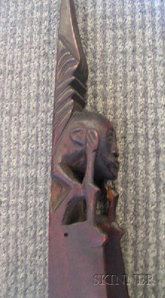 Carved Wood Scoop