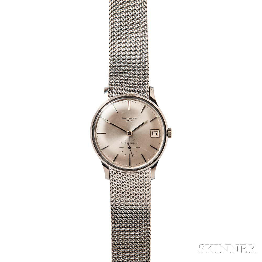 "Gentleman's Stainless Steel ""Calatrava"" Wristwatch, Patek Philippe, Retailed by Gubelin"