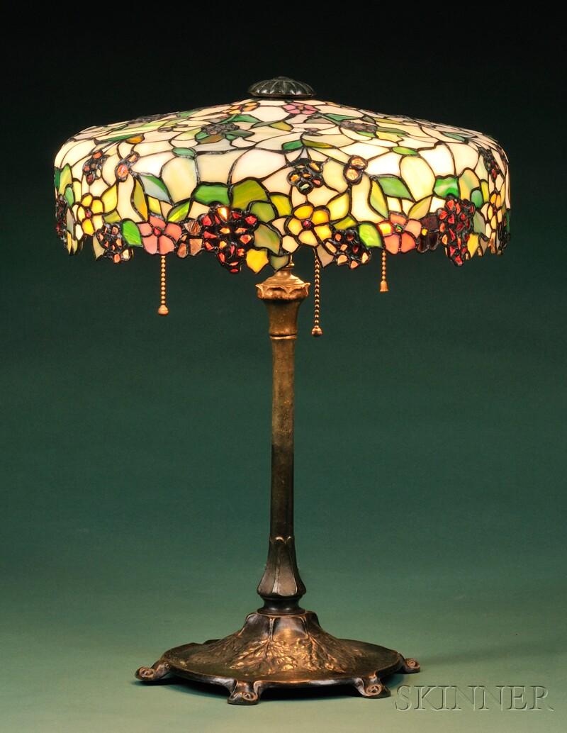John Morgan and Sons and Reed and Barton Table Lamp