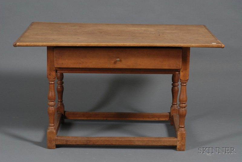 Cherry Tavern Table with Drawer