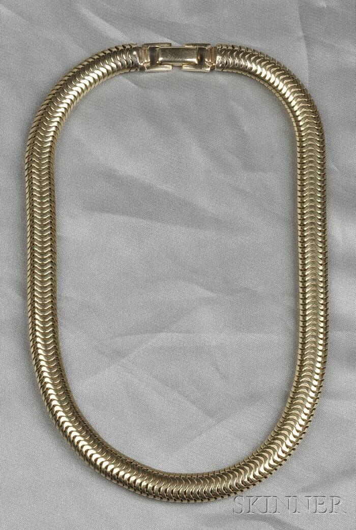 14kt Gold Tubogas Necklace