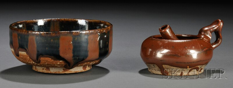 Two Stoneware Items