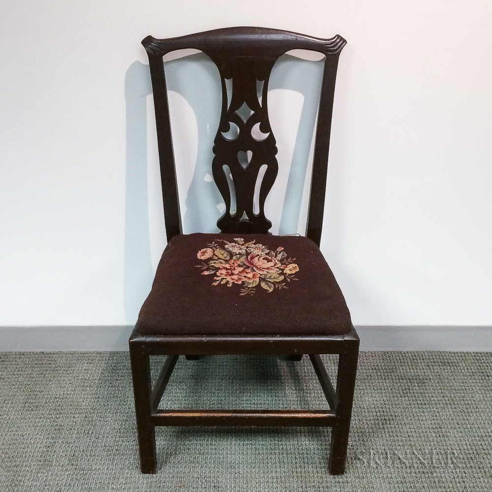 Chippendale Red-painted Side Chair