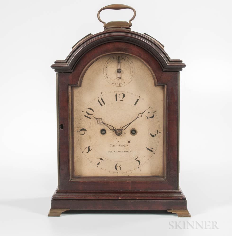 Thomas Parker Mahogany Bracket Clock