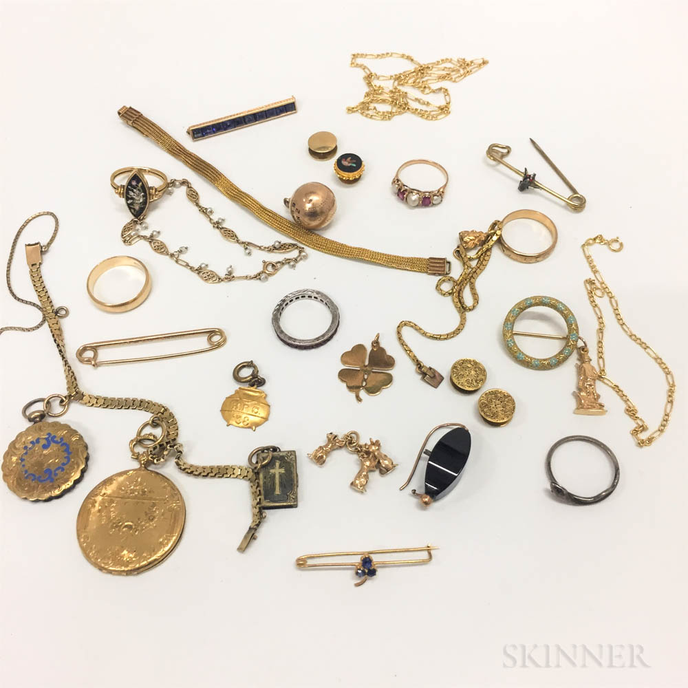 Group of Gold and Gold-filled Jewelry