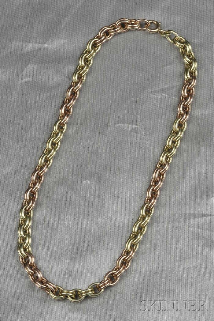 14kt Bicolor Gold Chain