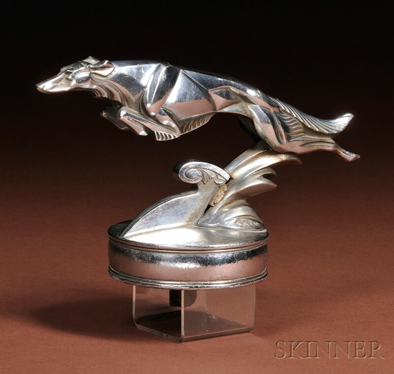 1929 Lorraine Dietrich Brau Greyhound Car Hood Ornament