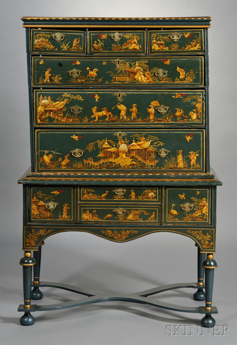 Japanned Chest-on-stand