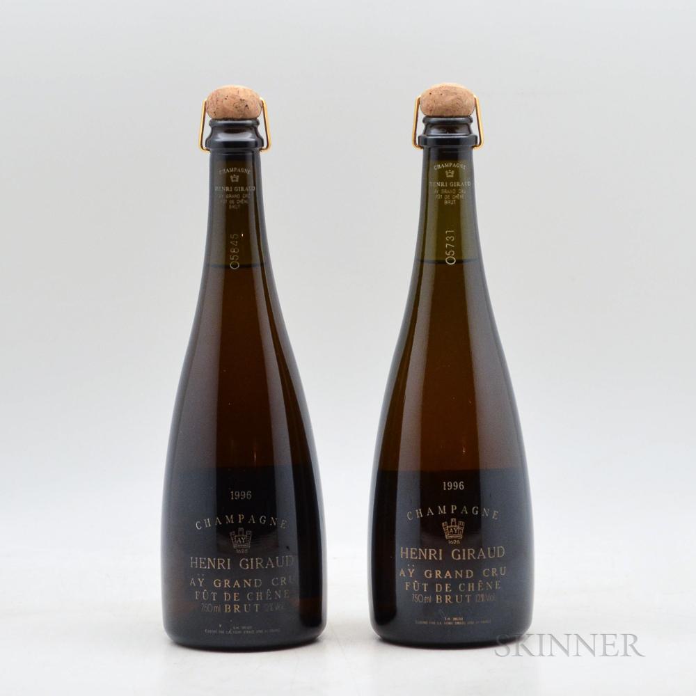 Henri Giraud Fut de Chene Brut 1996, 2 bottles