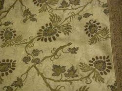 Silk Brocade and Metallic Thread Bedspread.