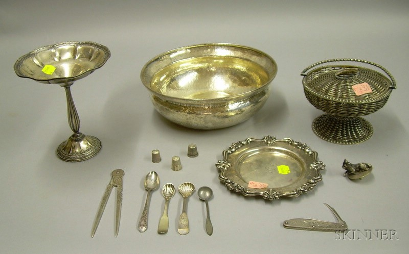Twelve Sterling and Silver Plated Articles