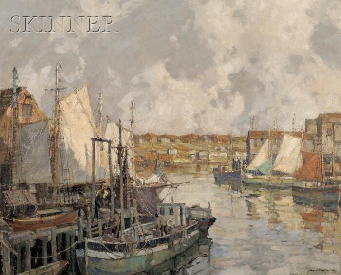 Frederick John Mulhaupt  (American, 1871-1938)      Gloucester Gill Netters