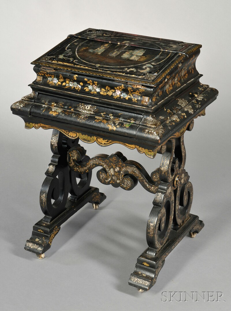 Victorian Lacquered Writing Desk