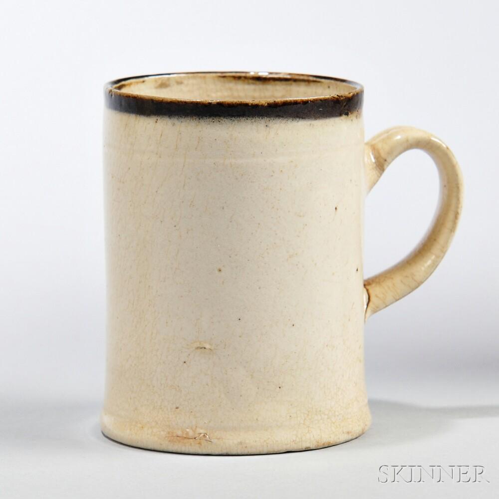 White Salt-glazed Stoneware Spirit Mug