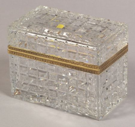 Baccarat Colorless Cut Glass Box
