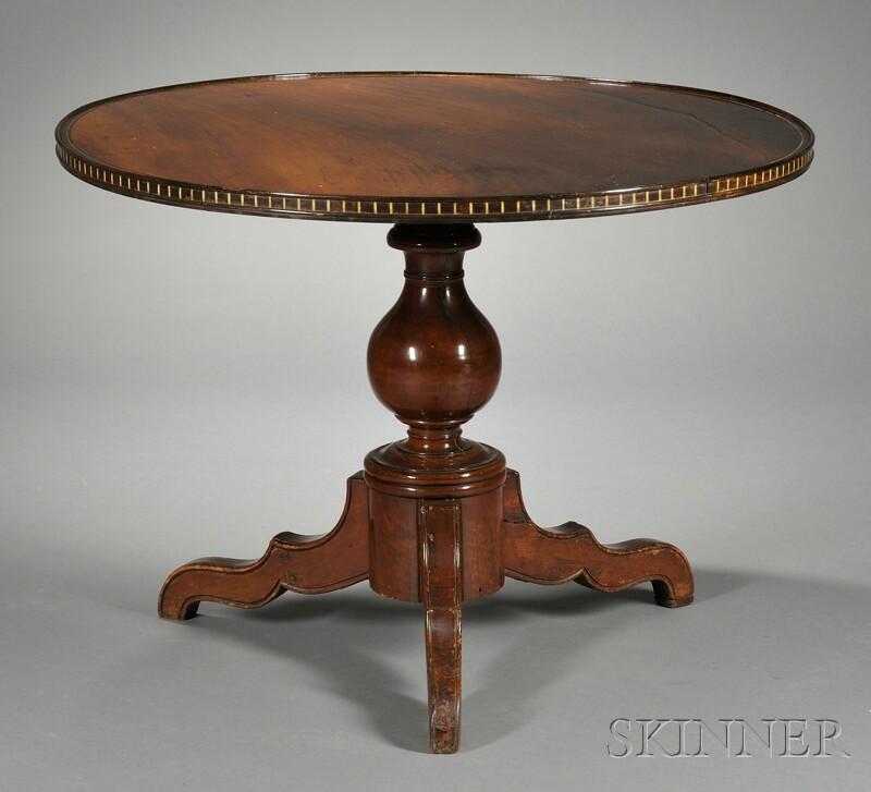 British Colonial Circular Mahogany Table