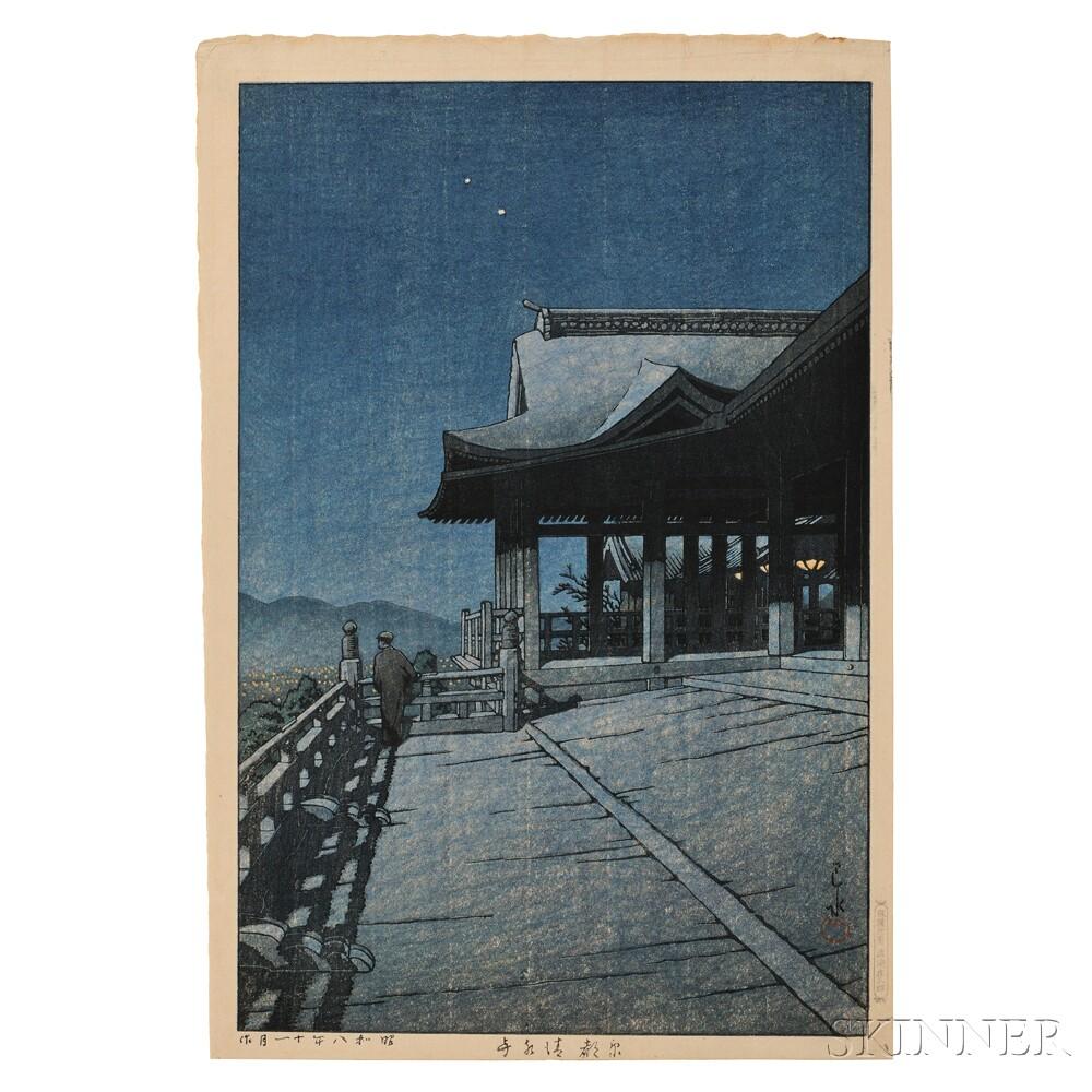 Kawase Hasui (1883-1957), Kiyomizu Temple in Kyoto