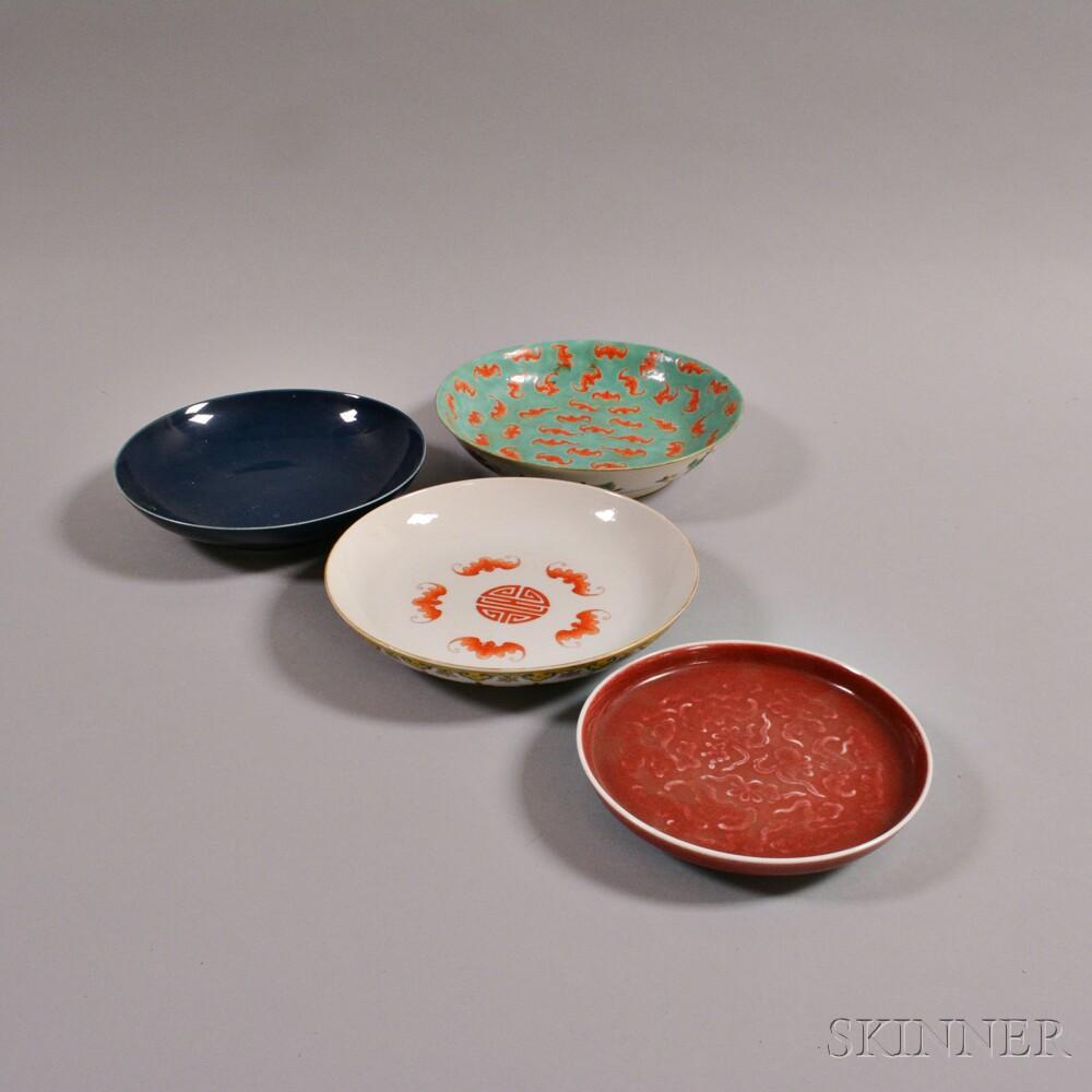 Four Porcelain Plates