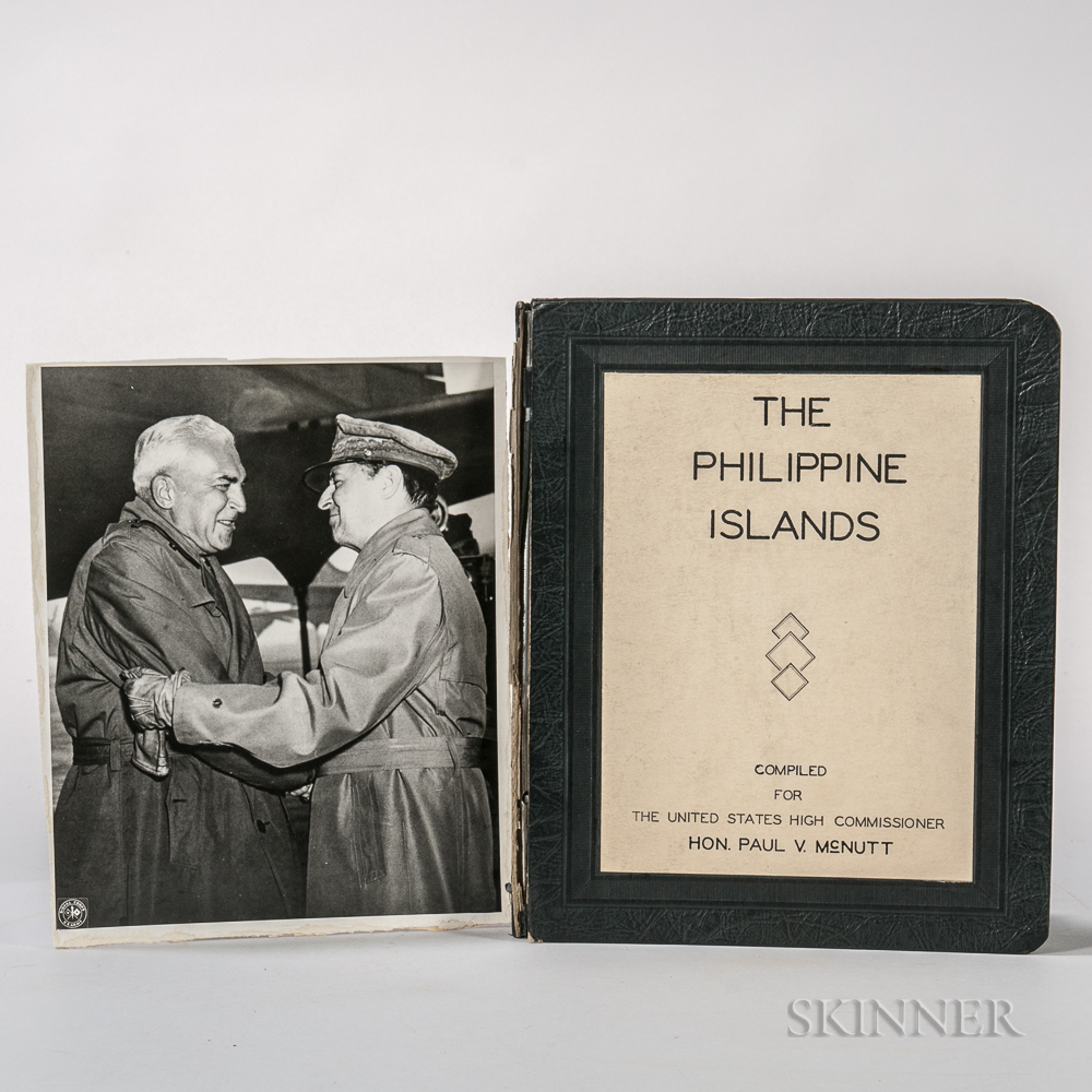 McNutt, Paul V. (1891-1955) Lot of Photographs and Ephemera from his Tenure as High Commissioner to the Philippines.