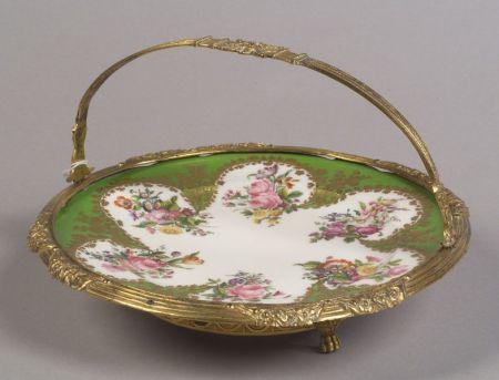 Paris Porcelain Gilt Metal Mounted Dish