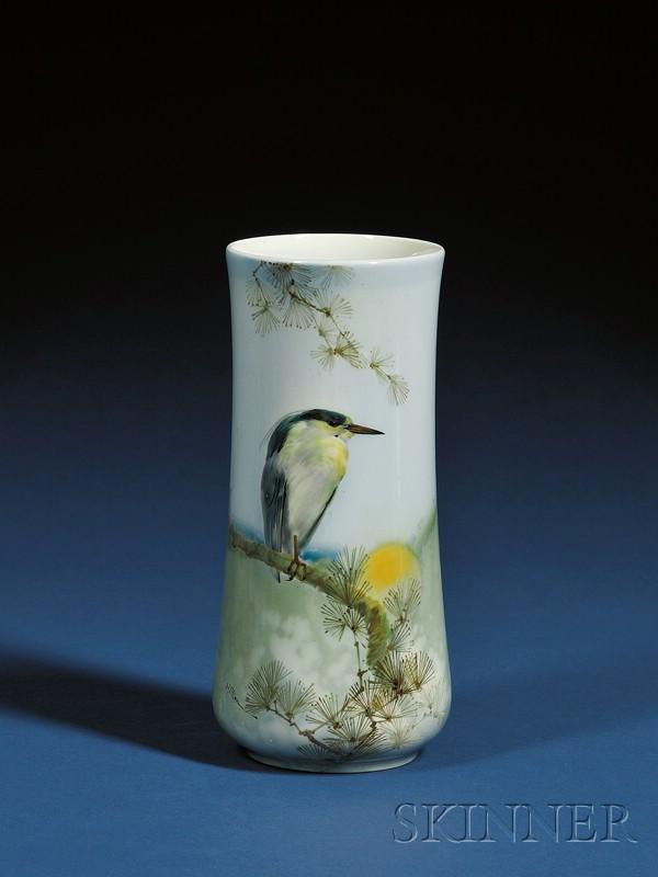 Royal Doulton Lambeth Titanian Ware Painted Porcelain Mantel Vase