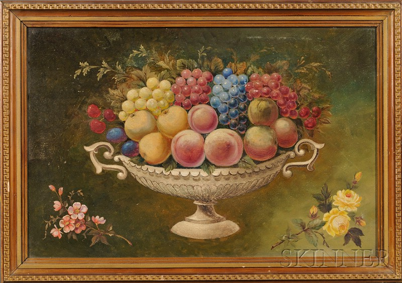 American School, 19th Century      Still Life of Fruit in a Compote.