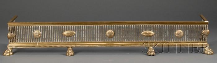 George III Style Brass Fire Fender