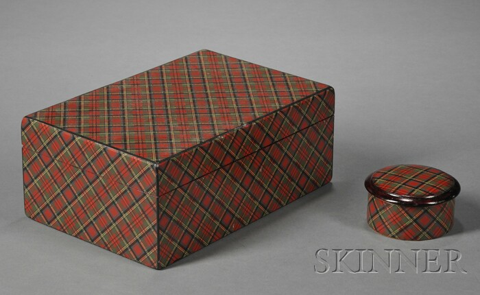 Two Tartanware Boxes