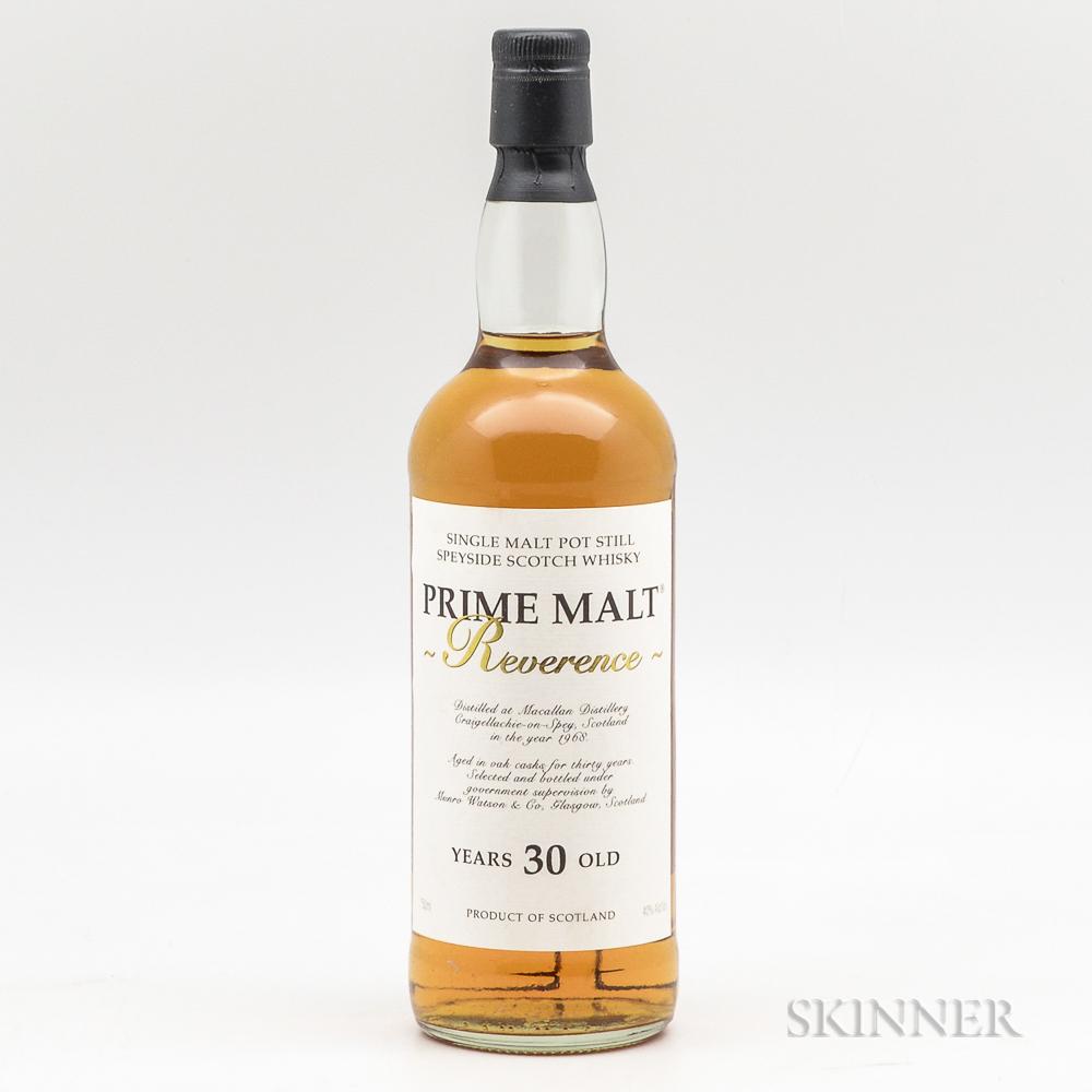 Prime Malt Reverence 30 Years Old 1968, 1 750ml bottle