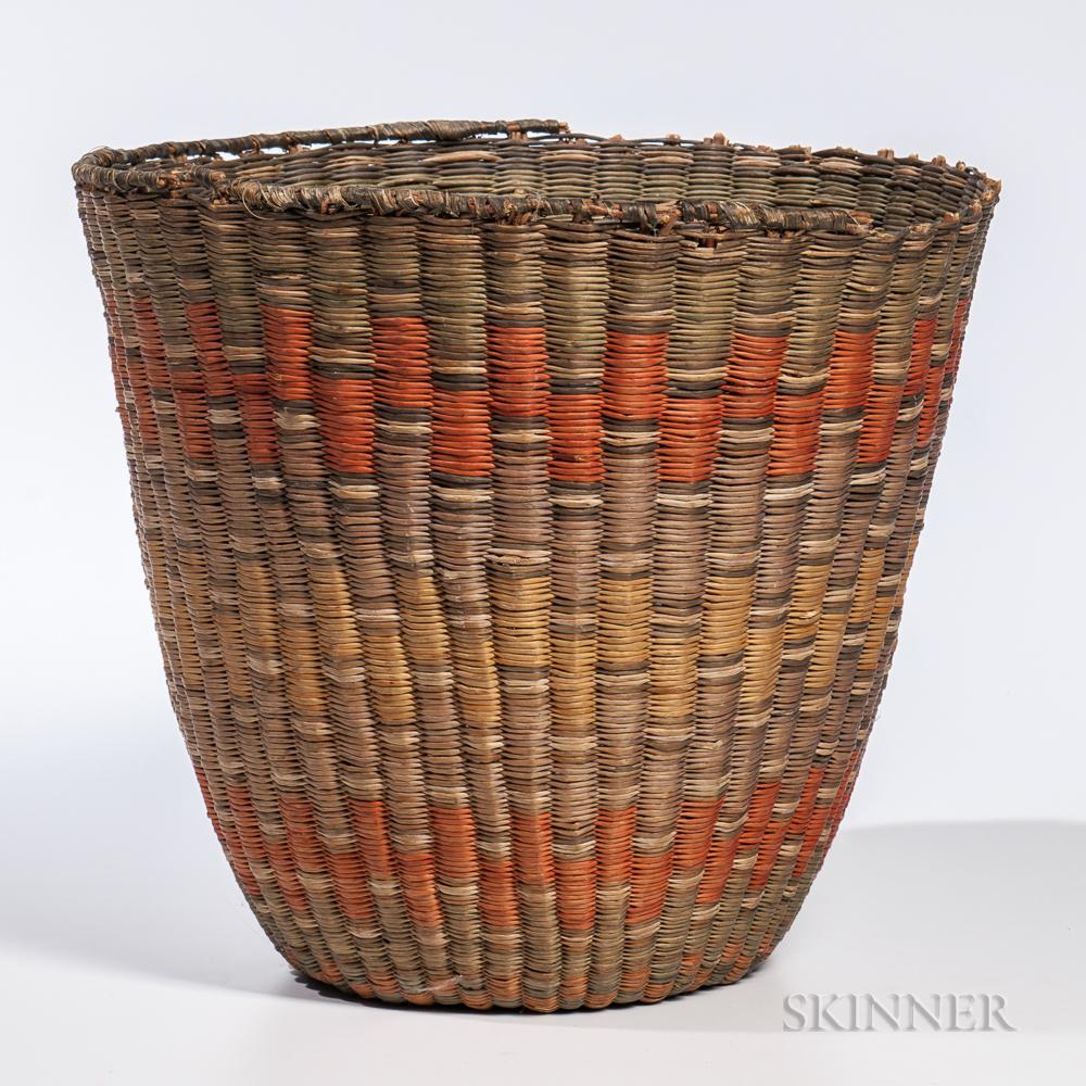 Southwest Coiled Hopi Peach Basket