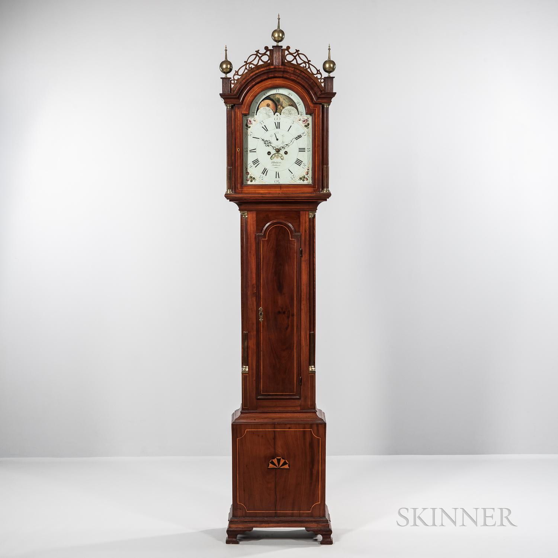New England Inlaid Cherry Tall Clock
