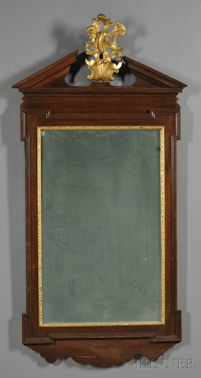 Georgian Parcel-gilt Mahogany Mirror